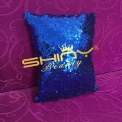 ShinyBeauty Sequin Pillow Cover-30cm x 30cm ,Sequin Pillow Case,Sequin Cushion Covers,Throw Pillow Case-RoyalBlue