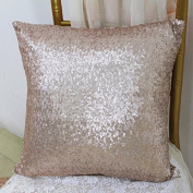 ShinyBeauty Sequin Pillow Cover-30cm x 30cm ,Sequin Pillow Case,Sequin Cushion Covers,Throw Pillow Case-Champagne