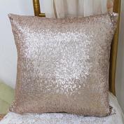 ShinyBeauty Sequin Pillow Cover-30cm x 30cm ,Sequin Pillow Case,Sequin Cushion Covers,Throw Pillow Case-Champagne