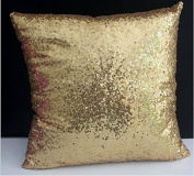 ShinyBeauty Sequin Pillow Cover-30cm x 30cm ,Sequin Pillow Case,Sequin Cushion Covers,Throw Pillow Case-LightGold