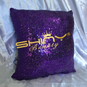 ShinyBeauty Sequin Pillow Cover-30cm x 30cm ,Sequin Pillow Case,Sequin Cushion Covers,Throw Pillow Case-Purple
