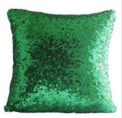 ShinyBeauty Sequin Pillow Cover-30cm x 30cm ,Sequin Pillow Case,Sequin Cushion Covers,Throw Pillow Case-Green