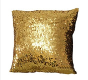 ShinyBeauty Sequin Pillow Cover-30cm x 30cm ,Sequin Pillow Case,Sequin Cushion Covers,Throw Pillow Case-Gold