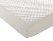 Premium Organic Cotton Waterproof Quilted Pack N Play Playard Mattress Pad Cover Fits Perfectly Any Playard Mattress upto 13cm , Natural