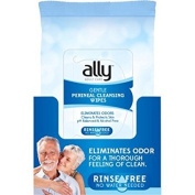 Ally Gentle Perineal Cleansing Wipes that Eleminate Odours, 60 sheets