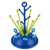 Beisaqi Sprout Drying Rack for Pacifiers and Baby Bottles, Dark Blue