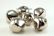 1.5 Inch 36mm Extra Large Giant Jumbo Craft Silver Jingle Bells Bulk 100 Pieces