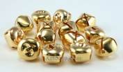 5/8 Inch 16mm Gold Craft Jingle Bells Charms Bulk Wholesale 100 Pieces