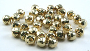 3/8 Inch 10mm Gold Small Jingle Bells Bulk 150 Pieces