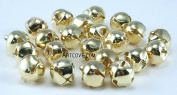 1/2 Inch 13mm Gold Small Jingle Bells Bulk 144 Pieces