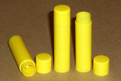 25 New Empty BRIGHT YELLOW Lip Balm Tubes - 5ml (Chapstick containers) …
