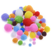 Blulu Assorted Colours Craft Pom Poms for Craft Making and Hobby Supplies, 200 Pieces