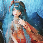 40.5CM Doll Mermaid Doll with Human Leg 1/4 BJD Doll Dollfie / 100% Custom-made / Free Make-up + Free Gifts