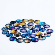 DECORA 20mm Star Assorted Design Glass Eyes Dome Cabochons For handcraft, decoration.50pcs