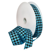 Pacific Blue/Black Houndstooth Ribbon 2.2cm . x 3.7m Decorative Ribbon - Great for Any Occasion!