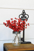 20cm Red Indoor/outdoor Berry pics (12 Stems) Floral Picks