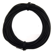 Xsotica Round Leather Cord 2mm Natural Dye Black (10 metres