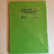 Bright Green blank card - 5 x 7 - count of 10