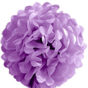 """S-shine 16"""" Poms Large Fluffy Pom Pom Hanging Decorations Tissue Paper Pom Flowers For Celebrate Decoration Fluffy Hanging Lantern Party/Wedding Blooms Ball (Lilac"""