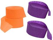 Halloween Purple and Orange Crepe Paper Streamers