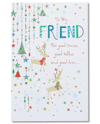 American Greetings Joys Christmas Card for Friend with Foil