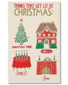 American Greetings Funny Lit Christmas Card with Glitter