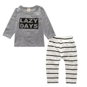 Toraway Infant Toddler Kids Baby Boy Clothes Set Letter Print T-shirt + Pants Clothes Outfits