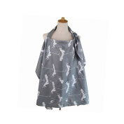 Privacy Breast Feeding Nursing Cover For Baby In Public - 100% Breathable Soft Cotton, Stylish and Elegant