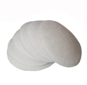 4PCS Reusable & Washable Organic Cotton Nursing Pads Stay Dry Ultra Soft Spill Prevention Breast Pad for Breastfeeding Women