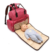 Multi functional Baby Bag Nappy Bag Backpack w/ Baby Change Pad