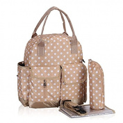 Multifunction Polka Dots Nappy Backpack Bag Waterproof Dots