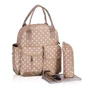 Multifunction Polka Dots Nappy Backpack Bag Waterproof Dots