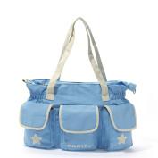 Besporter Multifunctional Baby Nappy Nappy Changing Bag Large Capacity Mummy Handbag Shoulder Bag Blue