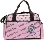 Besporter Baby Nappy Bag For Mommy Travel Tote Bag Orgnizer With Straps Pink