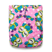"Kawaii Baby Good Night Heavy Wetter One Size Cloth Nappy 2 Inserts ""Pink Owl"""