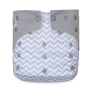 """Kawaii Baby Printed One Size Cloth Nappy with 2 Microfiber Inserts """" Waves """""""