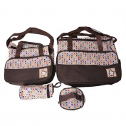 Hoomall 5-in-1 Multifunction Large Capacity Baby Nappy Bag Nappy Changing Pad Travel Mummy Bag Tote Handbag Set