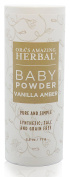 Natural Baby Powder, No Talc, Grain, Gluten, Corn, Vanilla Amber Scent, Ora's Amazing Herbal 70ml