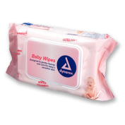 Dynarex Baby Wipes, Unscented, Soft-Pack, Case/480