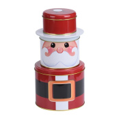 Lucoo 2017 Christmas Lovely New Fashion soft comfortable Santa 3 Layers Cylinder Gift Box Jewellery Storage Shelf Home Decor