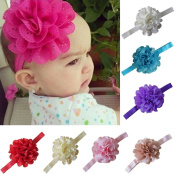 Focussexy 7Pcs Babys Girls Flower Elastic Headband Photography Headbands