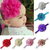 Focussexy 7Pcs Babys Girls Flower Elastic Headband Photography Headbands