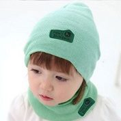 Baby Boys Girls Hat Letter Print Knitted Beanie Baby Kids Hats Solid Leather Sign Wool Babies Beanie Hat with Scarf