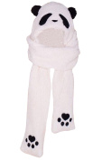 Baby Lovely Panda Embroidery Design Scarf/Hat/Gloves