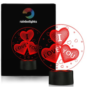 I LOVE YOU 3D AMAZING Illusion Light 7 colour By rainbolights A Great GIFT Idea And a UNIQUE Way To Say I LOVE YOU