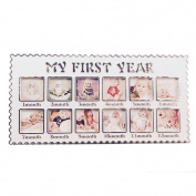 KMMall Baby Memory Photo Frame My First Year Keepsake Picture Frame