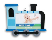 Adorable Baby Boys' Nursery Decor Train Shaped Photo Frame - 24cm x 19cm