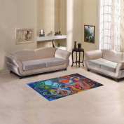 JC-Dress Area Rug Colourful Octopus Modern Carpet 0.6mx0.3m