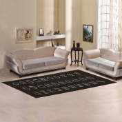 JC-Dress Area Rug Common Icons Modern Carpet 3mx0.9m