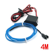 Water & Wood 2Pcs 4M/13Feet Neon El Wire with Driven Switch for Decoration of Vehicle, House, Outdoor, Commerical Purposes-Blue Light